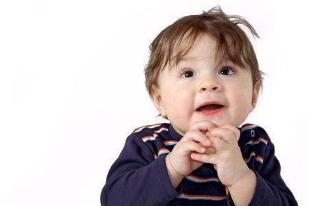Mooie jongen met snack Stockfoto - 16639562