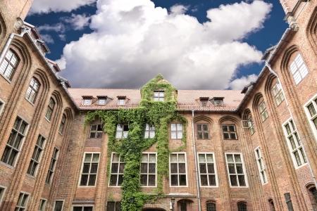 Gezichten van Polen stadhuis in Torun op de World Heritage List Torun - geboorteplaats Nicolaus Copernicus Stockfoto