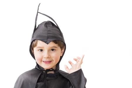 Jongen met carnaval kostuum Little batman