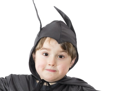 batman: Boy with carnival costume   Costume of bat