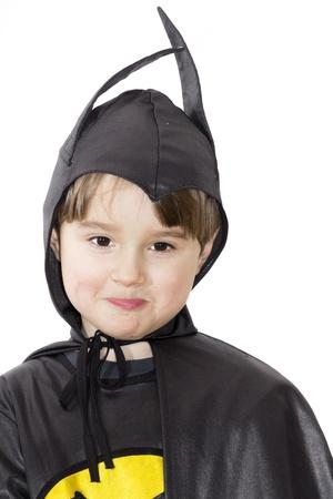 Jongen met Carnaval kostuum Kostuum van de vleermuis Stockfoto - 19534346