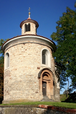 republik: Romanesque rotunda St.Vit in Prague. Czech republik.