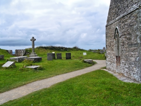 Old church in Tintagel photo