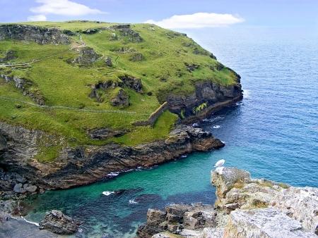 camel post: Coast of Cornwall near Tintagel