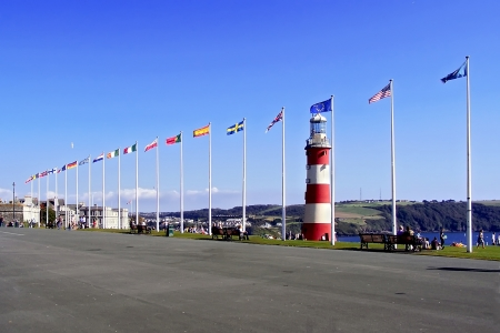 Flags of European states  in Plymouth