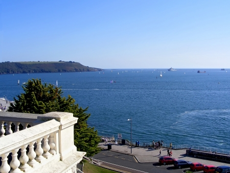 plymouth: Lovely summer in Plymouth Stock Photo
