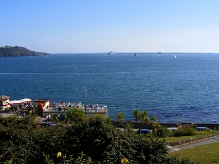 plymouth: View of harbor in Plymouth  Cornwall in Great Britain  Stock Photo