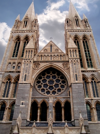 neo gothic: Neo-ghotic cathedral in Truro  Great Britain
