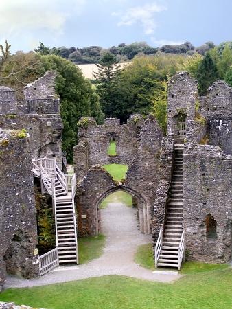 Interior of Restormel castle in Cornwall  Stock Photo