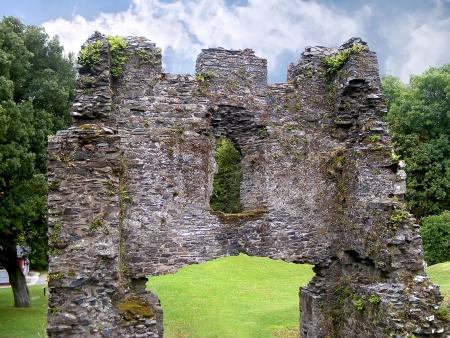 lanhydrock: Detail of Restormel ruin in Cornwall Stock Photo