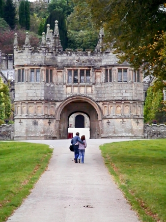 Autumn park in Lanhydrock  Cornwall in Great Britain
