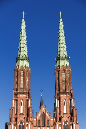 neo gothic: Sights of Poland  Neo - Gothic cathedral st Florian in Warsaw