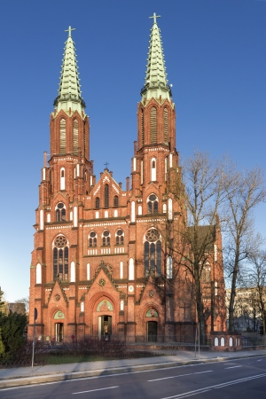 Sights of Poland  Neo - Gothic cathedral st Florian in Warsaw   photo