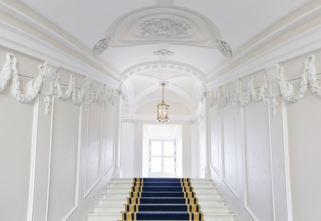 stairwell: Stairwell in the Polish palace  Royal castle in Warsaw on World Heritage List