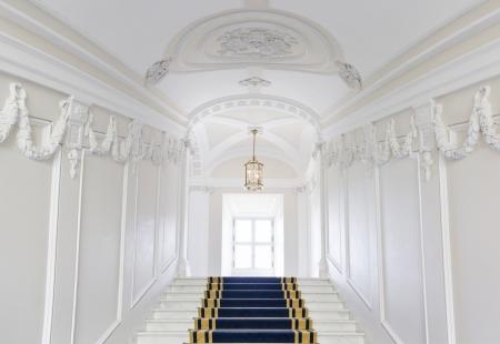 Trappenhuis in de Poolse paleis Koninklijk kasteel in Warschau op de World Heritage List