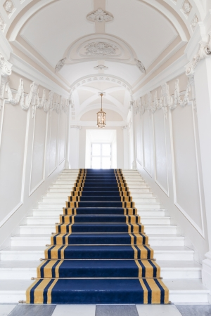 stone stairs: Stairwell in the Polish palace  Royal castle in Warsaw on World Heritage List