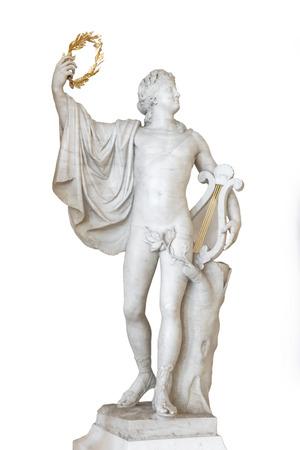 Symbols in arts - statue of Apollo  Marble