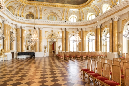 upright piano: Ball room in Royal Castle in Warsaw