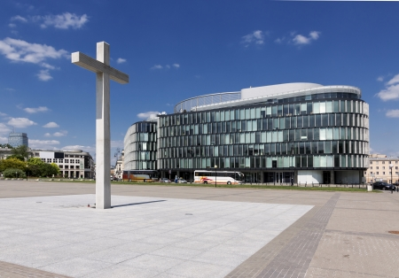 Sights of Poland  Modern architecture in Warsaw  Pilsudzkiego square Architect Norman Foster