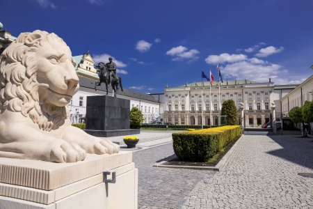 Classical palace in Warsaw - residence of the President of Poland