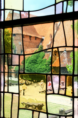 gothic castle: The greatest in Europe Gothic Castle. Malbork in Poland. World Heritage List of UNESCO. Editorial