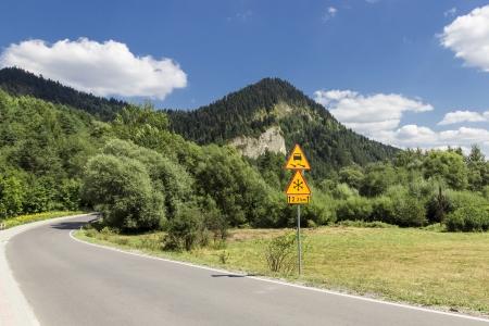 Landscapes of Poland  Road in Polish mountains - Pieniny  photo