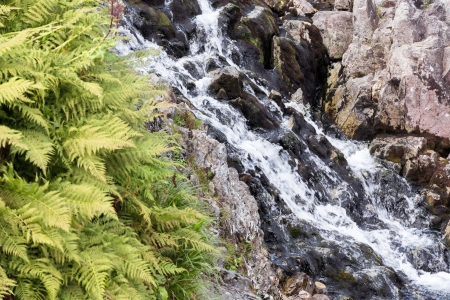 Waterfalls in mountain in Poland  National Park - Tatras  Ecological reserve  photo