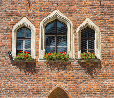 gothic architecture: Details of Gothic architecture. Nice windows.