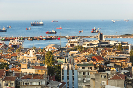the marmara: Sights of Istanbul. View of city. Streets, monuments, hotels and Marmara sea.