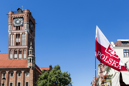 sights: Sights of Poland. Old Town in Torun. Torun - place of birth Nicolaus Copernicus.