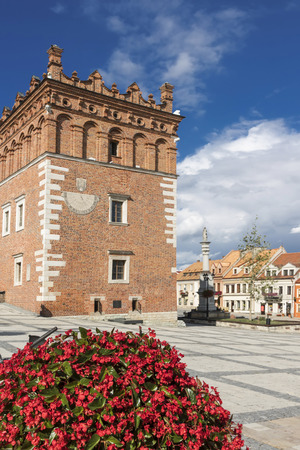Sights of Poland. Old Town in Sandomierz. Famous city in Poland.