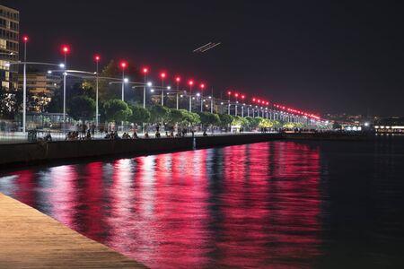 Thessaloniki's new seaside. Colorful port in Greece.
