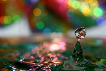 Here are the pure drops of water, the rest is the play with background and light.