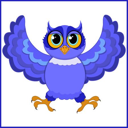 Purple owl illustration.
