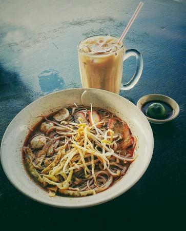 laksa: Breakfast at sarawak - laksa
