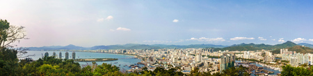 Panoramic view of Sanya Bay