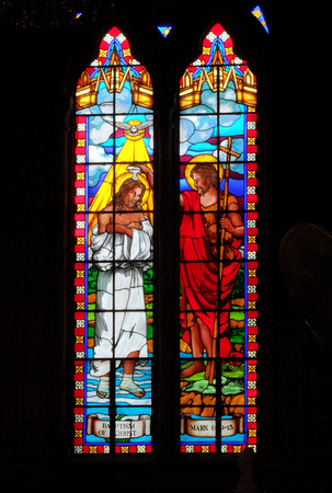 historias biblicas: Stained glass in Catholic Church