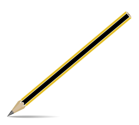 Pencil pen isolated background vector