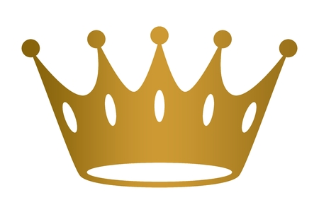 Crown golden on isolated on white background.