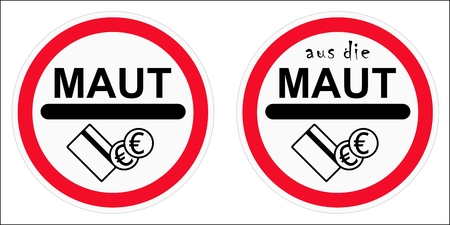 Traffic sign in Germany. Ilustração