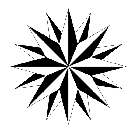 compass rose compass rose marine navigation isolated background vector eps Stock Illustratie