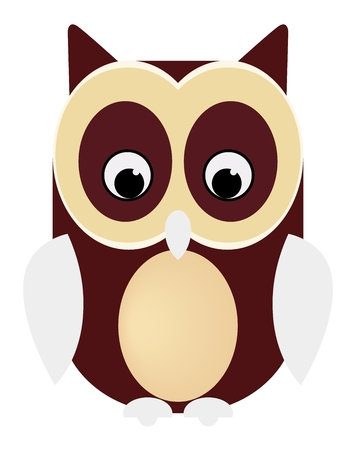 Owl codger bird animal vector eps 向量圖像