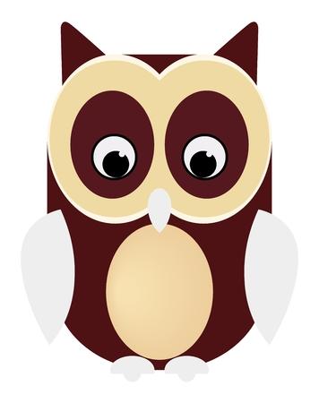 Owl codger bird animal vector eps Stock Illustratie