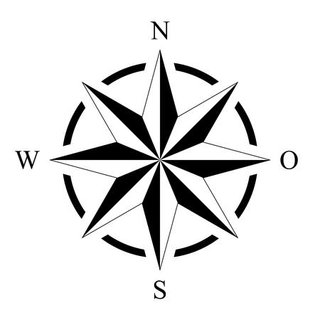 compass rose compass rose marine navigation isolated background vector eps Ilustração