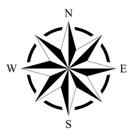 Windroos kompas roos mariene perspectief navigatie geïsoleerde achtergrond vector Stockfoto - 90040388