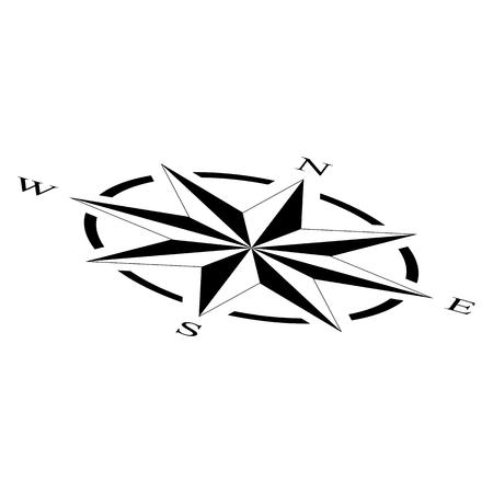 compass rose compass rose marine perspective navigation isolated background vector eps Ilustração