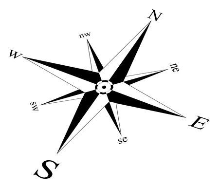 Compass rose wind rose marine sea perspective isolated background vector ai eps