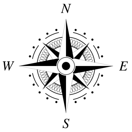 Compass rose marine navigation