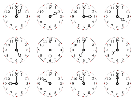 Clock or dial full time on a white background