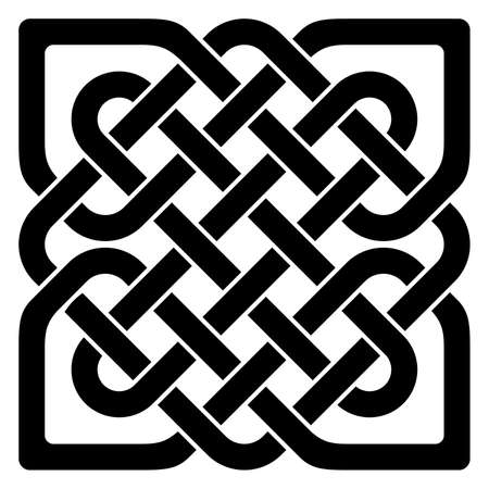 Simple Celtic knot in black as vector on a isolated white background. Abstract illustration of an celtic symbol.